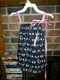 Skull pillow case dress