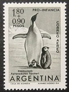 10507  Framed Postage Stamp Art  Penguin  by PassionGiftStampArt, $14.90
