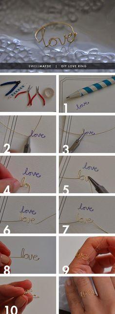 Φτιάξτε μόνοι σας δαχτυλίδια απο σύρμα με τον δικό σας γραφικό χαρακτήρα! | Φτιάξτο μόνος σου - Κατασκευές DIY - Do it yourself