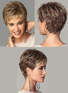 Shaggy short hair, short hair styles, haircuts for fine hair, short pixi Thin Hair Short Haircuts, Short Hair Older Women, Shaggy Short Hair, Pixie Haircut For Thick Hair, Hair Styles For Women Over 50, Super Short Hair, Short Grey Hair, Short Hairstyles For Thick Hair, Short Hair With Layers