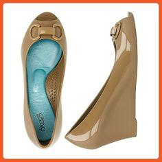 2b58bbc2f Oka B. Myra Camel Womens Peep Toe Size 8M - Pumps for women (