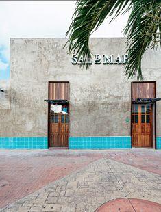 Contraste en el CARIBE Cozumel, Coffee Shop Interior Design, Gulf Of Mexico, Caribbean Sea, Facade, Sidewalk, Outdoor, Commercial, Spaces