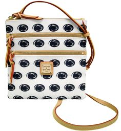 Penn State Dooney & Bourke Triple Zipper Cross-Body Bag |  Available at The Family Clothesline & www.pennstateclothes.com