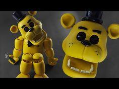"FREDDY FAZBEAR ""TUTORIAL"" ✔PORCELANA FRIA ✔POLYMER CLAY ✔PLASTILINA - YouTube"