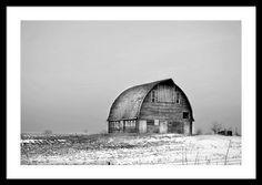 Royal Barn Bw Framed Print By Bonfire #Photography