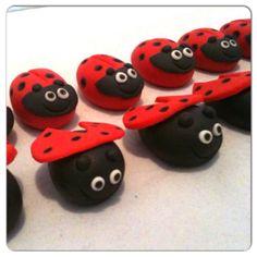 Ladybug Cupcake toppers www.HauteTart.Etsy.com
