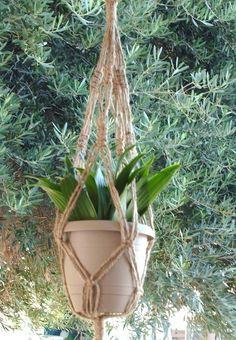 Macrame Plant Hanger Natural Jute Vintage Style 24 inch on Etsy, 165,28Kč