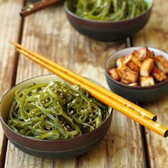 Here's another favorite edible. Japanese Seaweed Salad