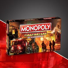 Pre Order the Alarm Edition of Firefighters MONOPOLY, honoring the men and women on the front lines of firefighting. Firefighter Bar, Firefighter Home Decor, Firefighter Decals, Firefighter Pictures, Firefighter Quotes, Fire Dept, Fire Department, Fire Equipment, Fire Engine