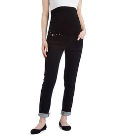 Bella Vida Black Over-Belly Maternity Jeans - Plus