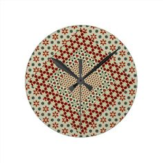 Customizable Pretty clocks from Zazzle. Choose a pre-existing design for your wall clock or create your own today! Create Yourself, Create Your Own, Patchwork Patterns, Clock, Pretty, Wall, Design, Home Decor, Watch