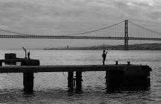 Tejo river, the Bridge and Lisbon by carlosmromasantos