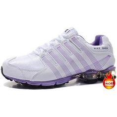 huge discount 2c231 03ae5 Womens Nike Shox R4 White Purple Cushion5 Cheap Nike, Nike Shoes Cheap, Nike  Shoes