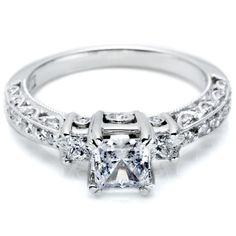 Tacori Classic Crescent #Diamond #Engagement #Ring
