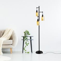 """George Oliver Cribb 66"""" Tree Floor Lamp & Reviews 