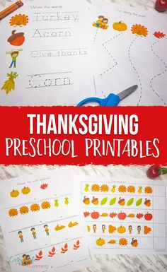 Have some Thanksgiving fun, color, write, and learn with these Thanksgiving preschool printables. A great way to get kids thinking about Thanksgiving.