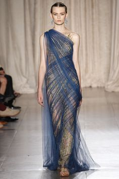 Silk tulle over gold embroidered lace! Stunning! Marchesa Ready-to-Wear Spring 13