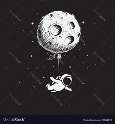 Astronaut flies with a moon.Prints design.Childish vector illustration. Download a Free Preview or High Quality Adobe Illustrator Ai, EPS, PDF and High Resolution JPEG versions.
