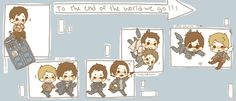 Doctor Who + Sherlock + Supernatural + Good Omens so cute