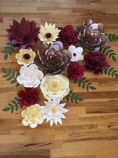 Set of 14 Wedding Paper Flower Wall Decor Photobooth