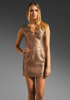 LADAKH Shop Around Goddess Grid Brocade Dress in Copper at Revolve Clothing - Free Shipping!