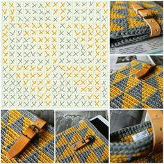 Käsintehtyjä koruja hopeasta, helmistä ja korukivistä ja aika ajoin muutakin käsintehtyä Tapestry Crochet Patterns, Crochet Quilt, Crochet Chart, Crochet Stitches, Knit Crochet, Crochet Wallet, Crochet Purses, Beginner Crochet Projects, Crochet Symbols