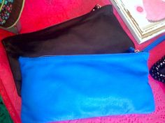 leather pochette  available in every color