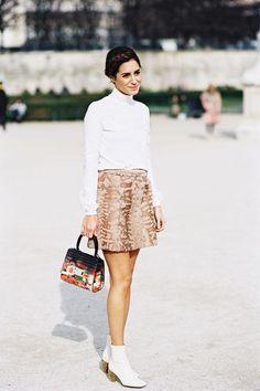 Printed mini skirt w