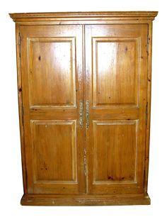 Solid Pine Two Door Armoire On Chairish.com