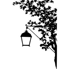 Vintage street lamp silhouette ❤ liked on Polyvore featuring backgrounds, fillers, decor, other, art, borders, effect, embellishment, text and detail
