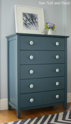 Homestead Blue Dresser and Nightstand - Saw Nail and Paint