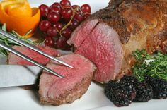 Prime Filet Roasts already trimmed to perfection for your convenience. Cooking is easy and perfect for your holiday get togethers. Impress your guests with the intense flavor of Prime Filet Mignon Roa Elk Recipes, Venison Recipes, Gourmet Recipes, Pasta Recipes, Chicken Recipes, Cooking Recipes, Healthy Recipes, Slow Cooking, Game Recipes