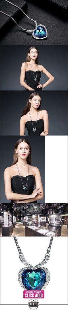 GoSparking Ocean Gold grande azul corazón titánico cristalino 18K blanco plateado Collar pendiente de la aleación con el cristal austríaco para las mujeres  ✿ Joyas para mujer - Las mejores ofertas ✿ ▬► Ver oferta: https://comprar.io/goto/B0096J36RK