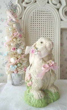 Shabby Chic Easter Decor. Shabby Chic Easter Bunny Wall Or Door ...