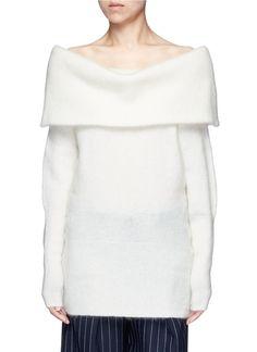 ACNE STUDIOS 'Daze' Foldover Collar Mohair Blend Sweater. #acnestudios #cloth #sweater
