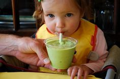 Spinach and Avocado Baby Smoothie...don't think you have to be a baby to LOVE the sounds of this!