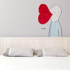 Vinilos decorativos. Amor él de Chispum 41x57 cm 40€