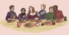 """eetrelibre: """"i love them all so so so much """" So great. And Matthias is in Fjerdan knitwear ❤️"""