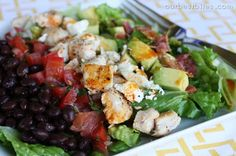 Southwestern Cobb Salad - Our Best Bites. One of my families favorite salads and a go-to for the last couple of years! Healthy Dinner Recipes, Healthy Snacks, Healthy Eating, Healthy Dinners, Yummy Recipes, Veggie Meals, Savoury Recipes, Skinny Recipes, Salads