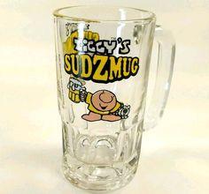 ZIGGY'S Sudzmug Beer Glass 12 OZ Mug Stein Tankard Bar Cartoon Vintage 1979 Dog Fuzz #Ziggy #TomWilson