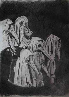 Título: Rostros de muerte Autor: Martín Ortíz Técnica: Lápiz de grafito