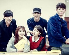 """Park Hae Jin & Cast At The """"Cheese In The Trap"""" Script Reading"""