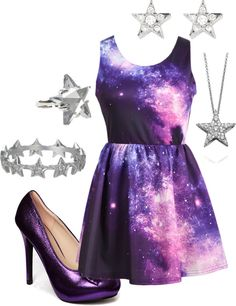 galaxy dress. I really love this.