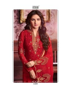 1cd3ed56aa Amirah Vol 16 Geargette Heavy Embroidery with daimond hand work suits 11004 Work  Suits, Salwar