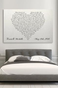 Personalized Canvas Vows Print | Such a personal gift that really warms up any room in your home. Loving these two designs that you can customize using lyrics from the first dance song at your wedding, any song that is meaningful to you, wedding vows, or any other words! More details here... #secondweddinganniversary #cottonweddinganniversary #cottonanniversary #cottonanniversarygift #weddinganniversary #weddinganniversarygift #weddinganniversarygiftideas