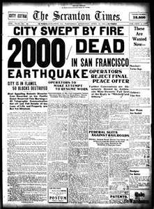 ... from april 18 1906 the date of the great san francisco earthquake