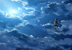 Find images and videos about art, anime and sky on We Heart It - the app to get lost in what you love. Fantasy Landscape, Landscape Art, Fantasy Kunst, Fantasy Art, Manga Art, Anime Art, Image Manga, Anime Kunst, Poster S