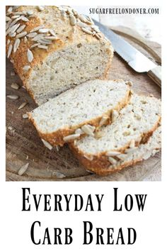 An easy everyday low carb bread with a texture just like whole-wheat bread. This delicious gluten free Keto chia almond bread recipe has absolutely no eggy taste! #bread #lowcarb #glutenfree #keto