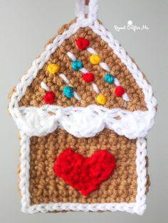 Crochet Gingerbread House Ornament