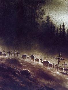 Halloween Art: Cemetery